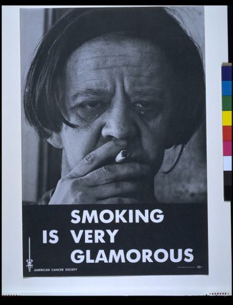 "1972: ""Smoking is Very Glamorous"" poster"