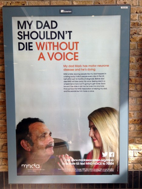 A disease that takes your voice before it takes your life