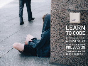 Learn to code to escape homelessness