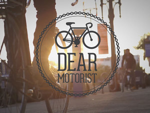 Dear Motorist, I'm a Cyclist