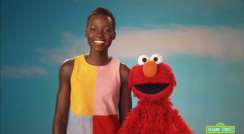 Lupita Nyong'o Sesame Street: Skin comes in lots of beautiful shades and colors.