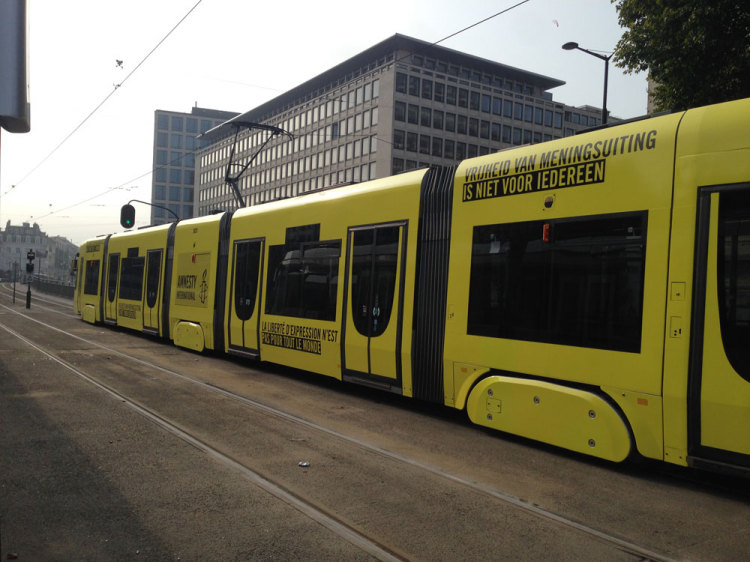Tramnesty: Experience censorship on this tram from Amnesty