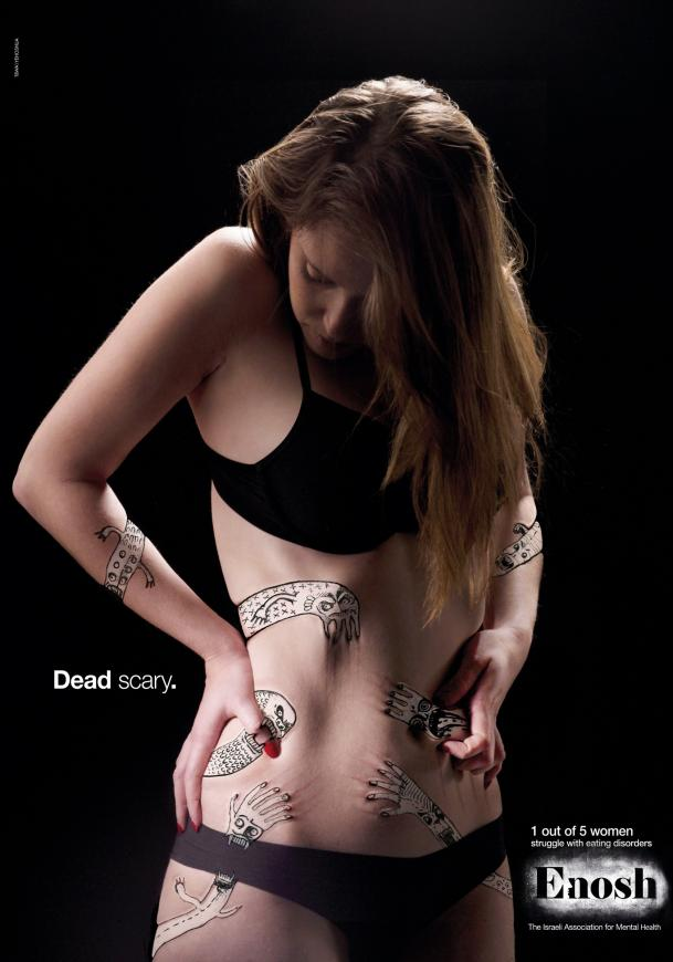 Is this eating disorder ad too sexy?
