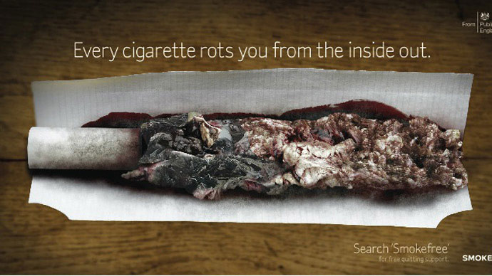 Public Health England tries to shock people out of smoking with gruesome campaign