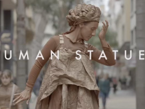 These human statues depict a scene you wouldn't be able to ignore