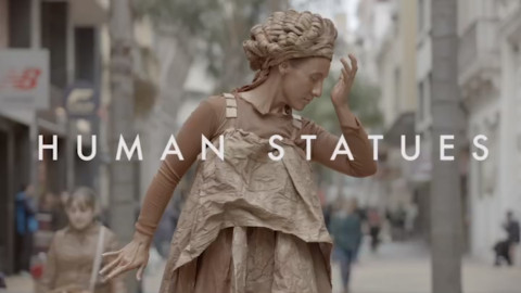 Human statues depict shocking scenes for UNICEF's #EndViolence Against Children campaign.