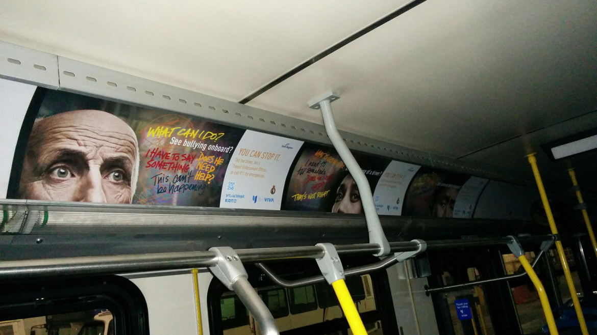 York Region Transit Transit anti-harassment campaign focuses on bystander intervention
