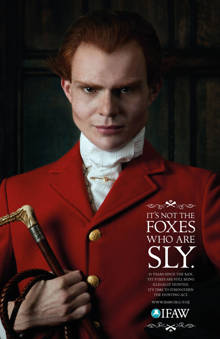 IFAW Foxhunting ads about foxhunters