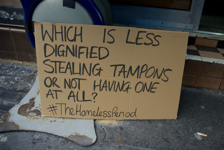 Help the homeless on their period