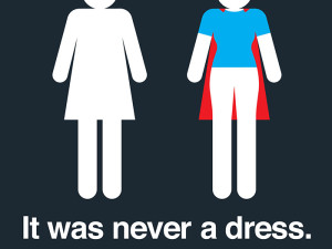 It Was Never A Dress – women's toilet signs just got updated