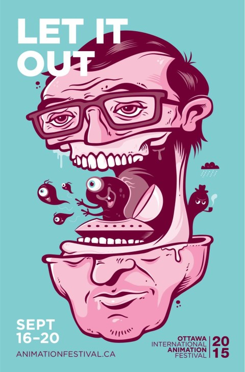 Ottawa International Animation Festival fest posters made by illustrator Michael Zavacky are grotesque in all the right ways