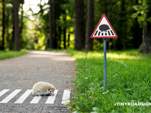 #TINYROADSIGN is the cutest animal welfare campaign of the summer