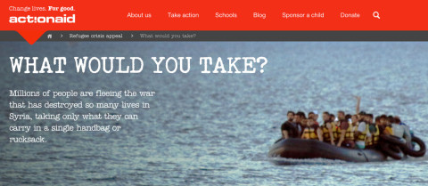 Actionaid If you were a refugee what would you take?