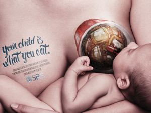 Great set of ads with eating babies
