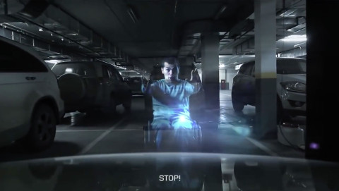 Dislife - In This Mall, Holograms Of Disabled People Appear If You Try To Park In Their Space