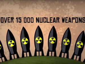 This animation is about your money lent out for nuclear weapons