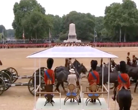 BBC reports on the Queens birthday as it was Kim Jong-un