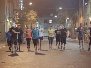 Homeless people back on their feet with running