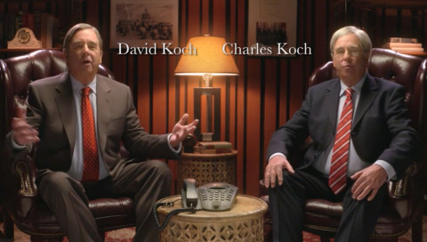 Climate change deniers anthem koch brothers