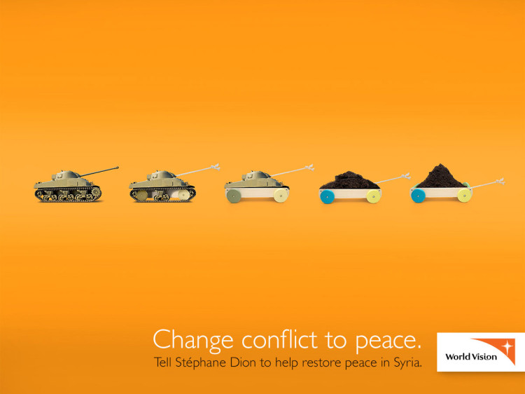 World Vision Canada Change Conflict to Peace in Syria
