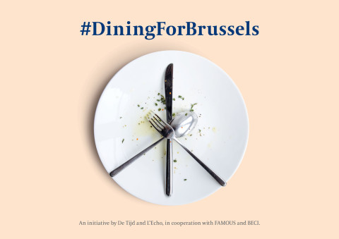DiningForBrussels Belgians fight back with knife and fork