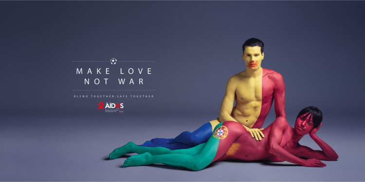 AIDES Make love not war Euro 2016