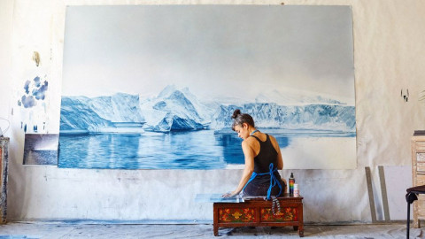 Zaria Forman: Drawings that show the beauty and fragility of Earth