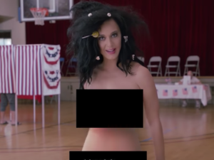 Katy Perry gets naked for democracy