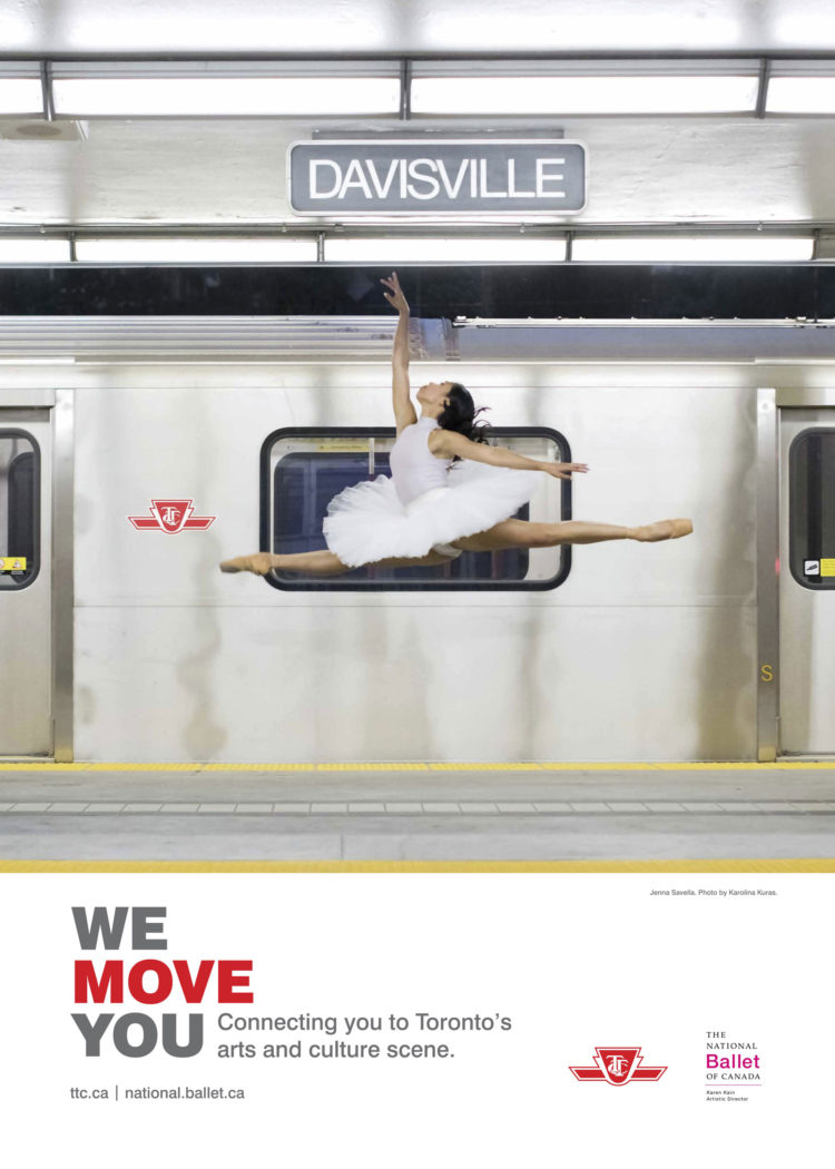 National Ballet of Canada Transit Campaign Poster