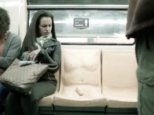 Mexican penis seat spreads awareness of harassment on the metro