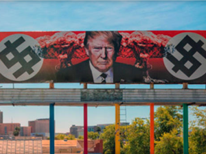 Artist trolls a nation with blunt anti-Trump billboard