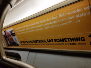MTA security ads hacked with anti-government messages